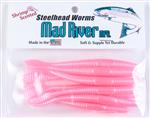 Steelhead Worms: Pink Pearl